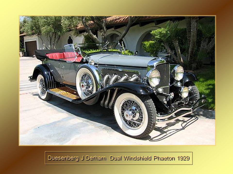 Duesenberg J Derham Dual Windshield Phaeton 1929