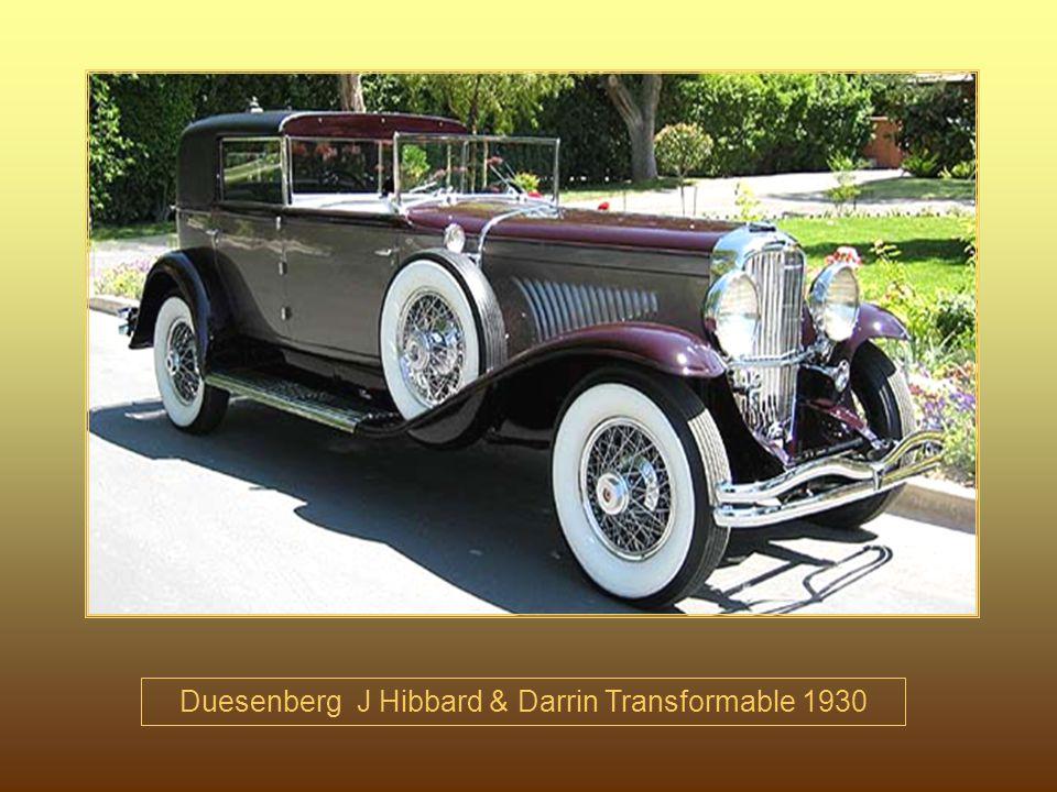 Duesenberg J Hibbard & Darrin Transformable 1930