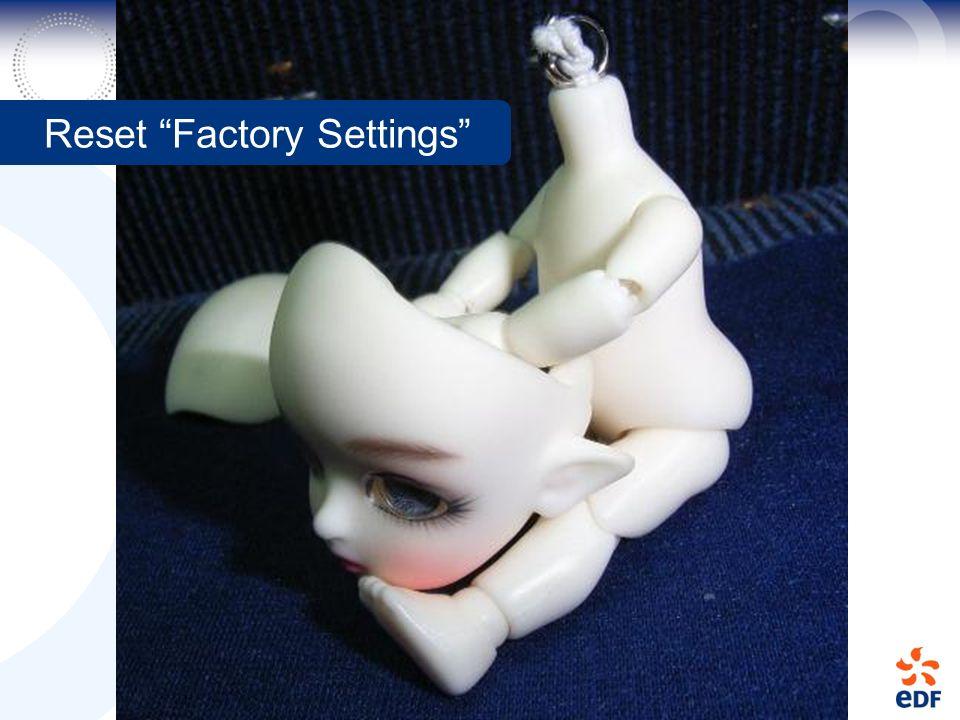 Reset Factory Settings
