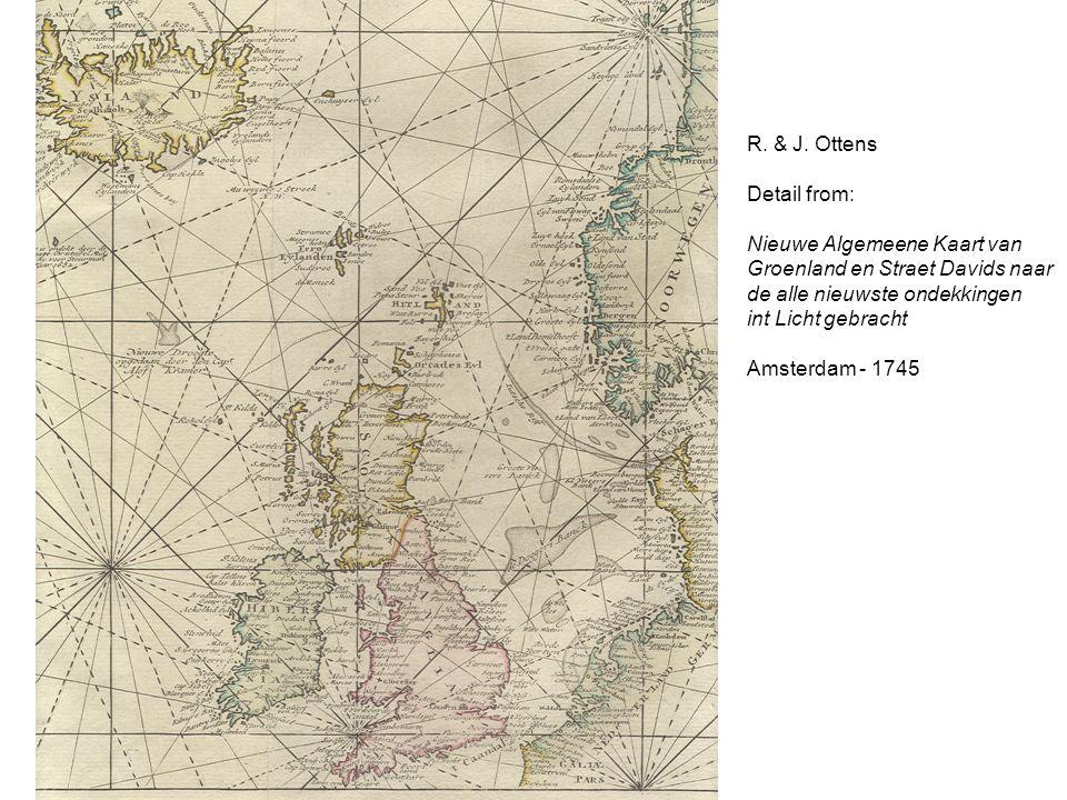 R. & J. Ottens Detail from: Nieuwe Algemeene Kaart van Groenland en Straet Davids naar de alle nieuwste ondekkingen int Licht gebracht Amsterdam - 174
