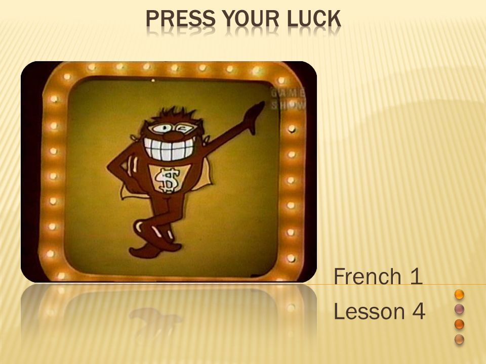 French 1 Lesson 4