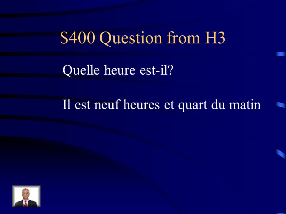 $300 Answer from H3 Rouge, orange, jaune, vert, bleu, violet