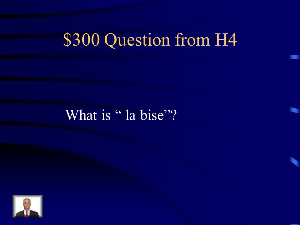 $200 Answer from H4 Madame married Mademoiselle- not married Mme. Mlle.