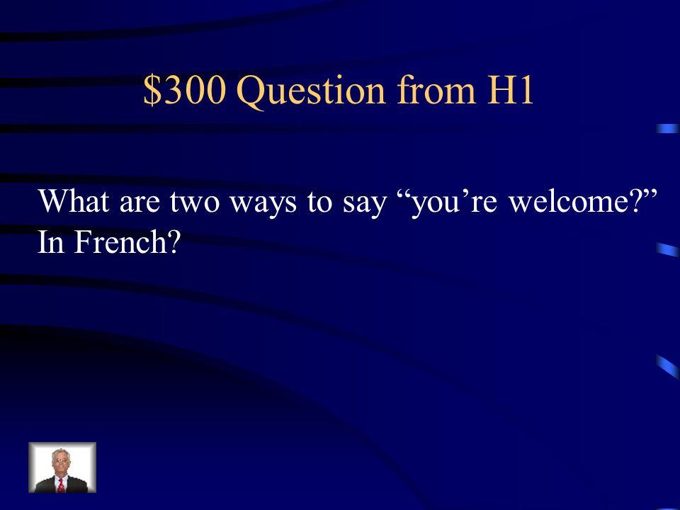 $200 Answer from H1 Puis-je boire de leau