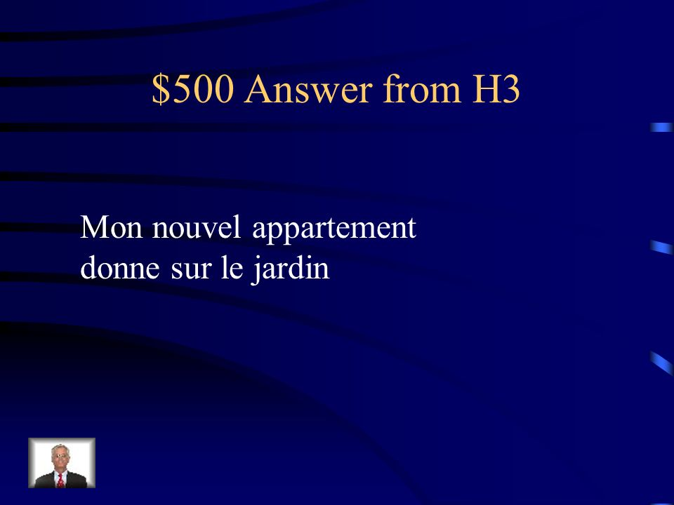 $500 Question from H3 my balcony overlooks the garden