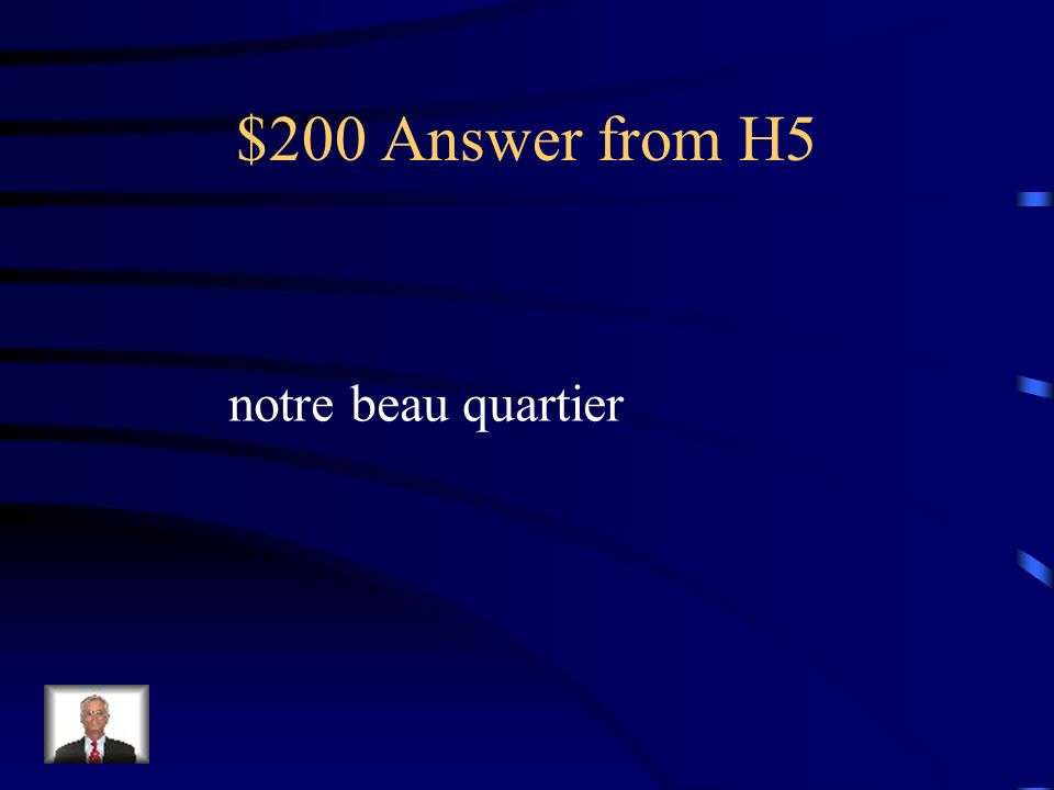 $200 Question from H5 our beautiful neighborhood