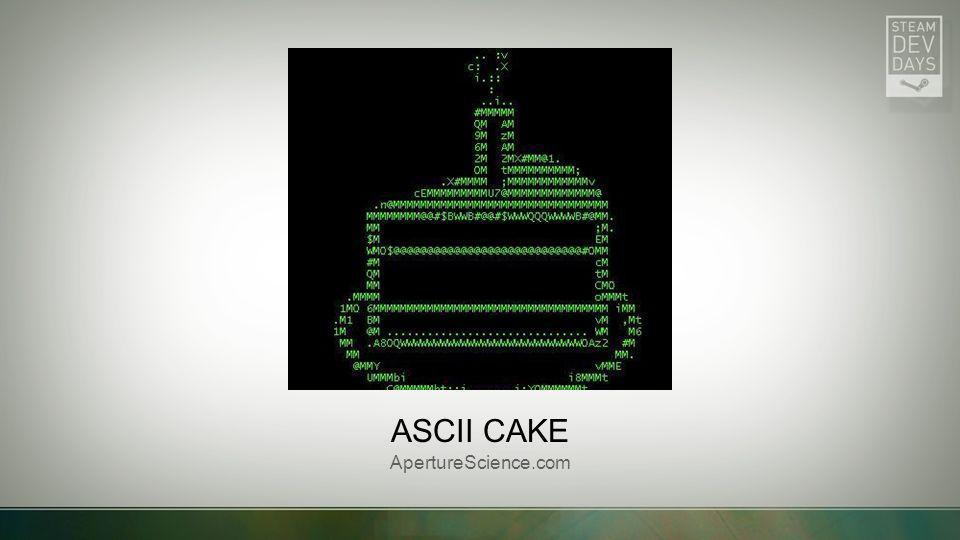 ASCII CAKE ApertureScience.com