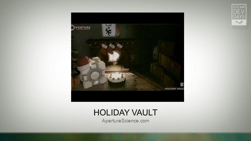 HOLIDAY VAULT ApertureScience.com