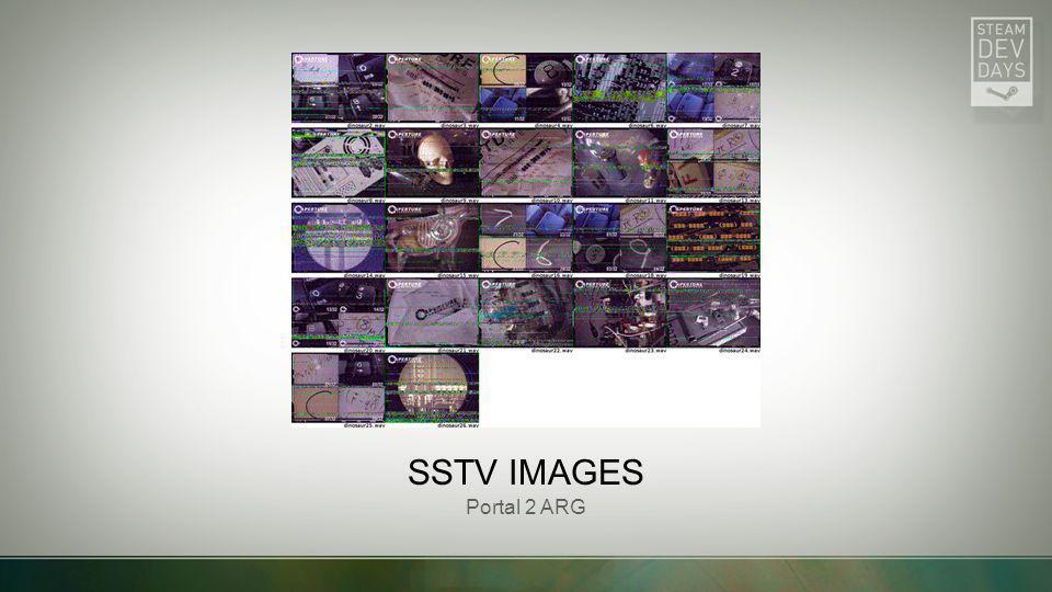 SSTV IMAGES Portal 2 ARG