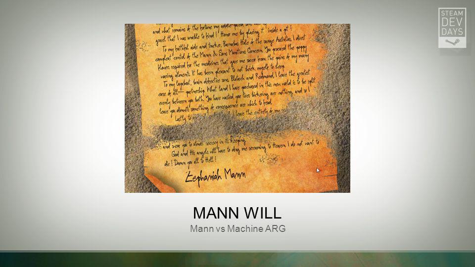 MANN WILL Mann vs Machine ARG