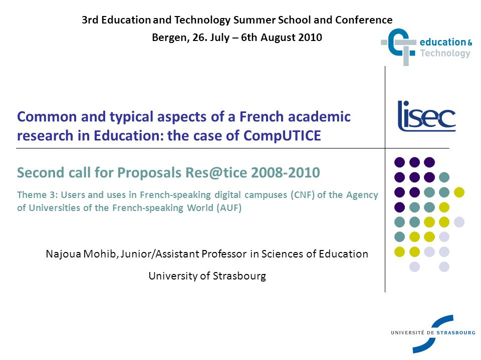 2 Outline of the presentation Before the project… From Res@tice to CompUTICE How do CompUTICE researchers work.