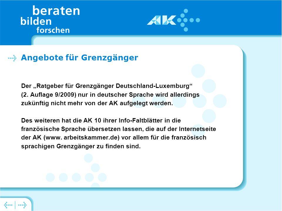 Der Ratgeber für Grenzgänger Deutschland-Luxemburg (2.