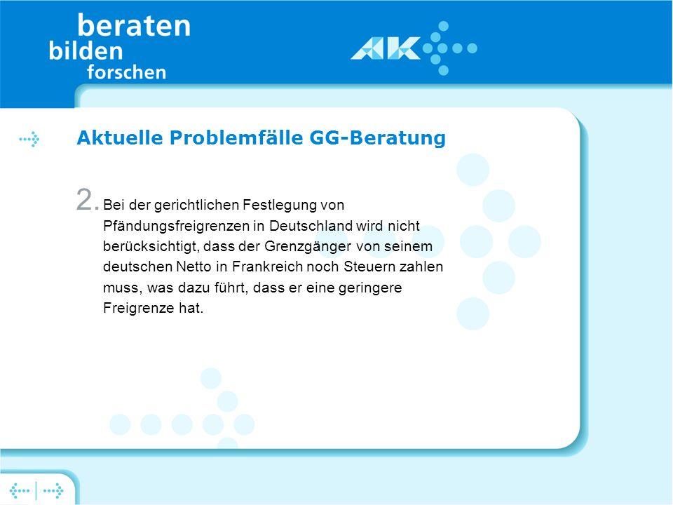 Aktuelle Problemfälle GG-Beratung 2.