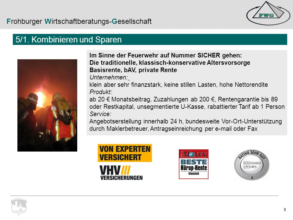 Frohburger Wirtschaftberatungs-Gesellschaft 19 Beitragsfreie Leistungen: z.B.