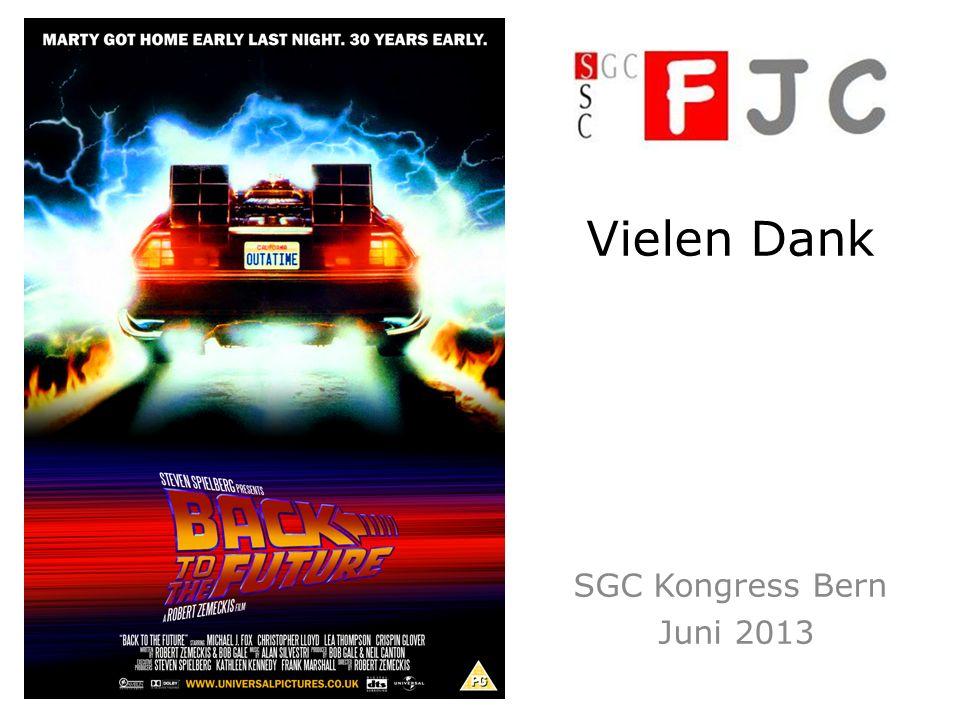 Vielen Dank SGC Kongress Bern Juni 2013