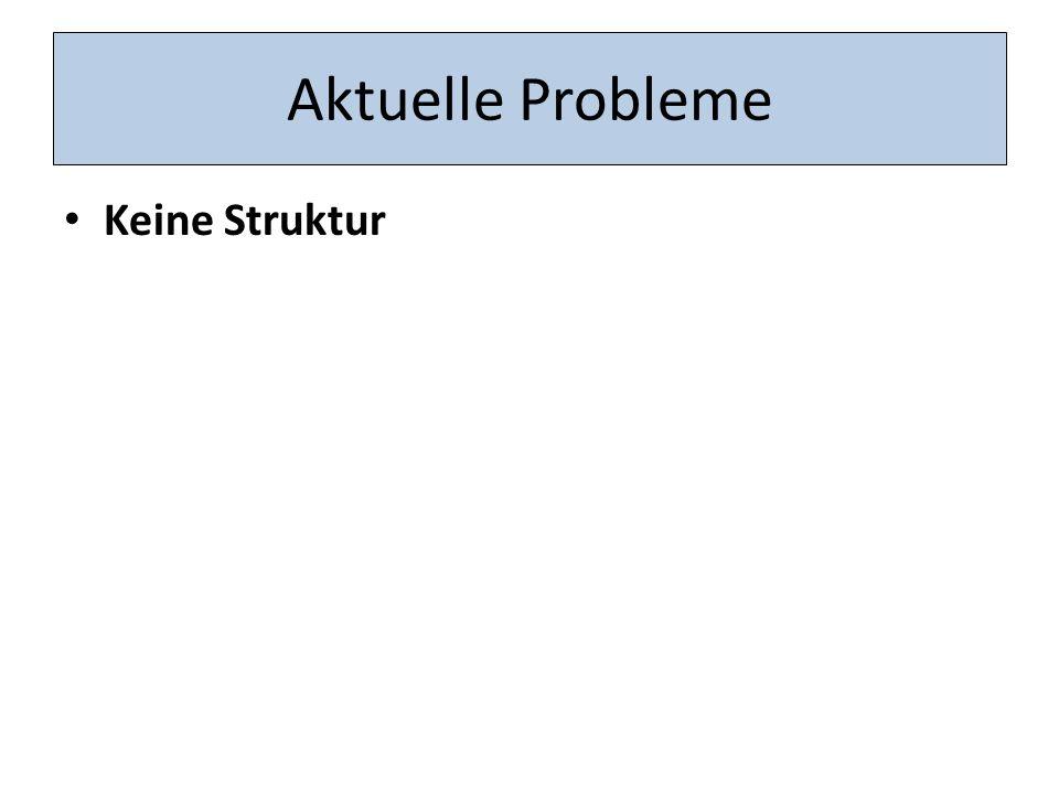 Aktuelle Probleme Keine Struktur