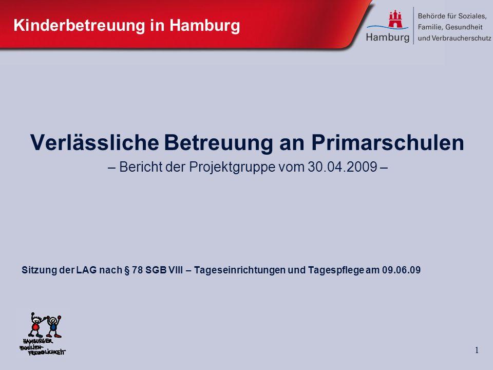 2 Verlässliche Betreuung an Primarschulen Ausgangslage Schulbereich: VHGS Ganztagsschulen offene teilgebundene gebundene Ganztagschulen -> nur teilweise Anschlussbetreuung Sonderschulen etc.