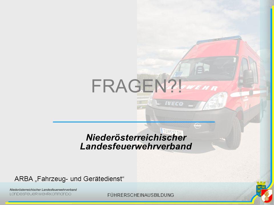 FÜHRERSCHEINAUSBILDUNG FRAGEN .