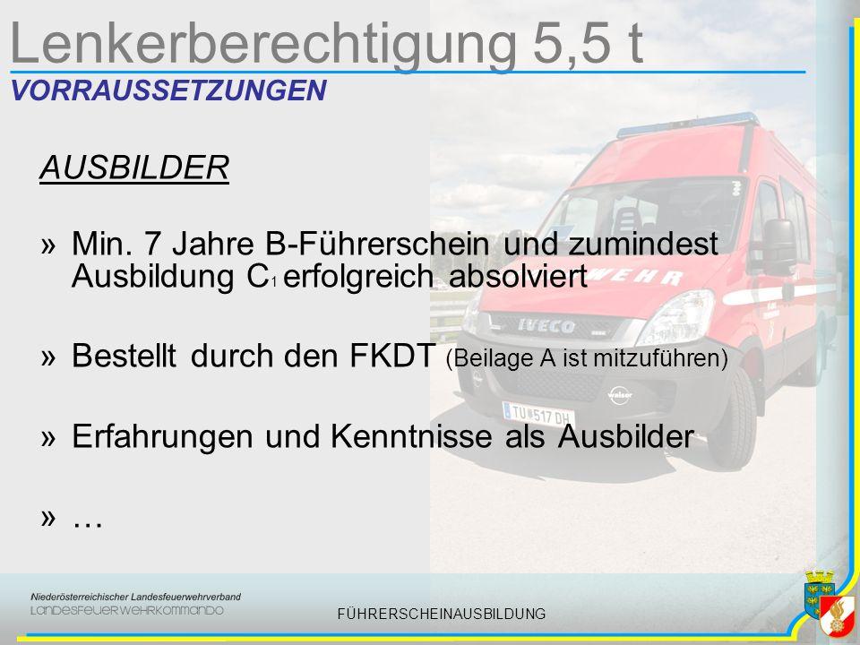 FÜHRERSCHEINAUSBILDUNG FEUERWEHRFÜHRERSCH EIN BERECHTIGUNGEN Der Feuerwehrführerschein berechtigt nur zum Lenken von Feuerwehrfahrzeugen in Österreich und Deutschland.