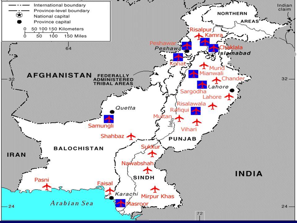 Potentielle taktische Ziele im direkten Vergleich Indien / Pakistan