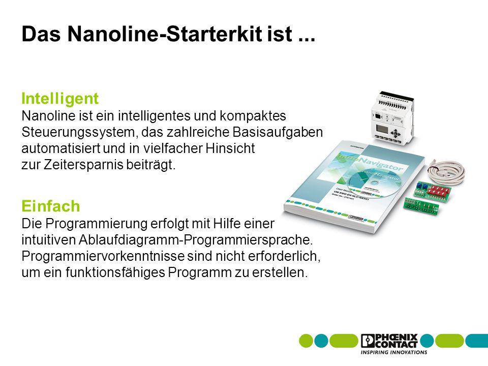Masterversion 13 Das Nanoline-Starterkit ist...