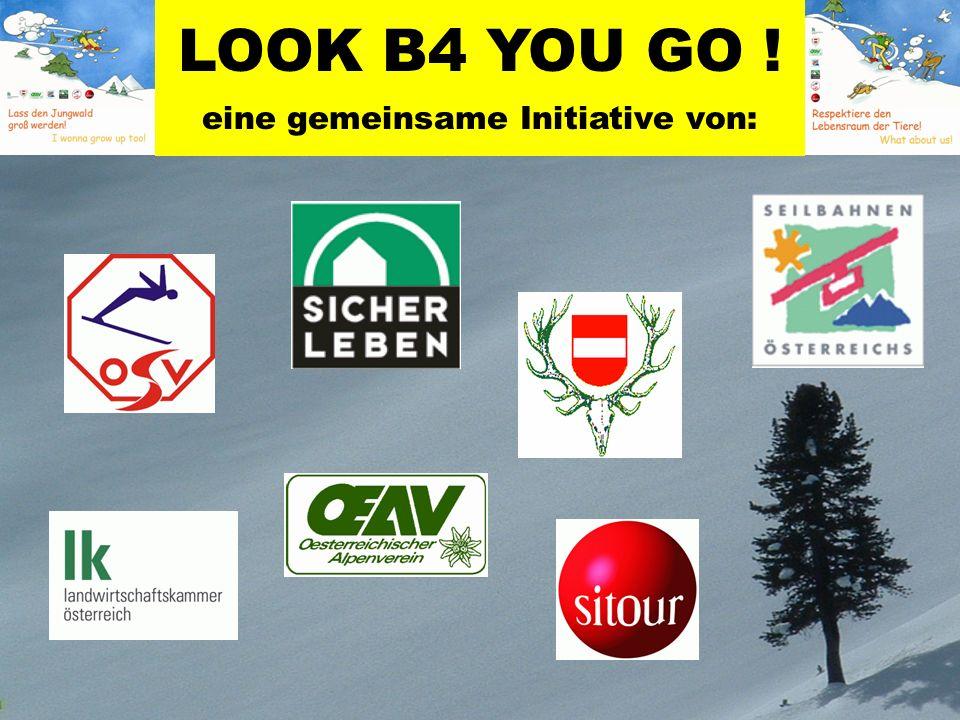 LOOK B4 YOU GO ! eine gemeinsame Initiative von: