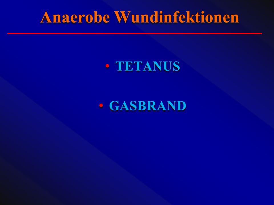 TETANUS GASBRAND TETANUS GASBRAND Anaerobe Wundinfektionen