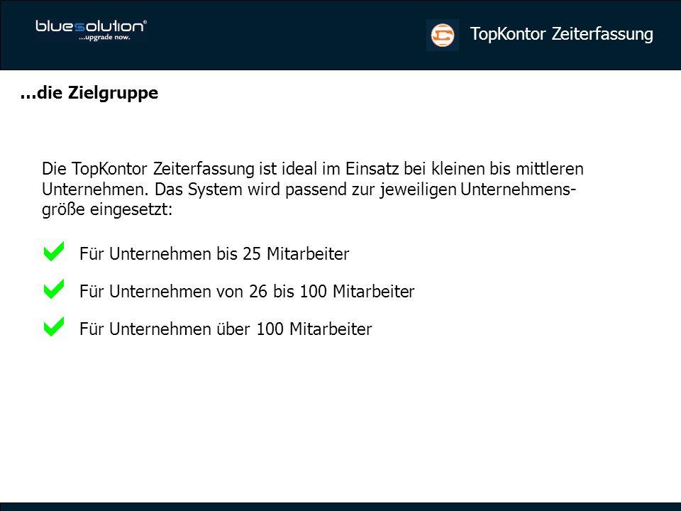 TopKontor Zeiterfassung Lösung: Software:TopKontor ZEF (bis 100 MA), Systemeinrichtung und Schulung Hardware:2 Stempelgeräte, z.B.