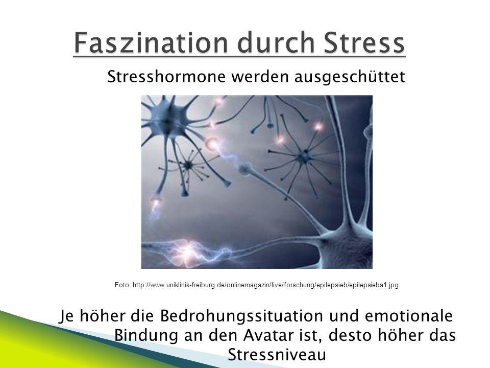 Spielende oder Spielerfolg führen zur Ausschüttung von Noradrenalin und Dopamin dadurch kommt es zum Abbau des Stressniveau und zu einem Glücksgefühl