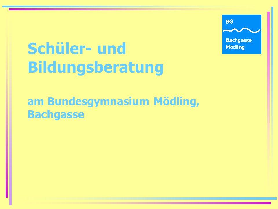 Schüler- und Bildungsberatung am Bundesgymnasium Mödling, Bachgasse