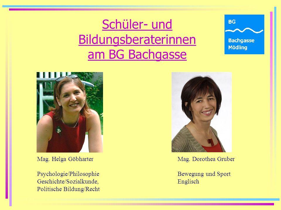 Schüler- und Bildungsberaterinnen am BG Bachgasse Mag.