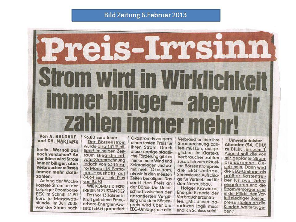 Bild Zeitung 6.Februar 2013
