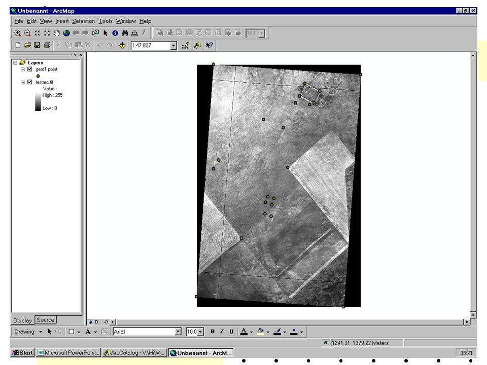 Aufgabe Projiziert, nachdem ihr es in euer Verzeichnis kopiert habt, das angegebene Bild in ein anderes Koordinatensystem, z.B.