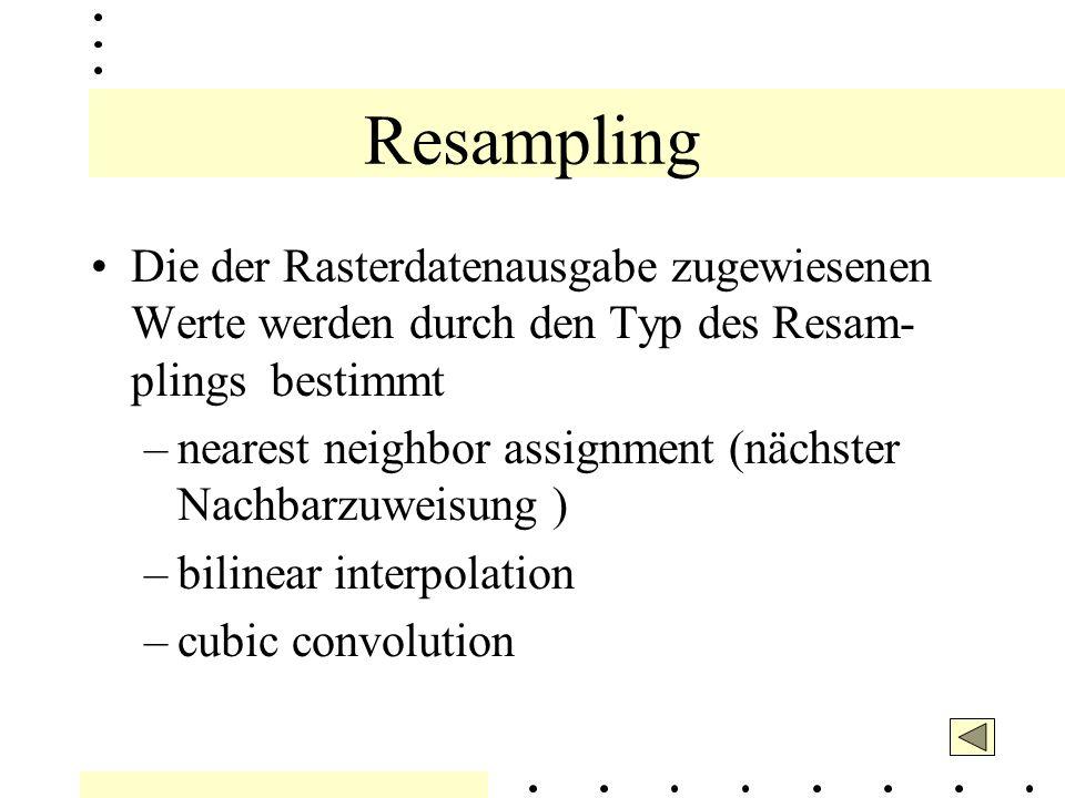 Resampling Basiert auf der gebildeten Transformation wäh- rend des Registrierungsprozess.