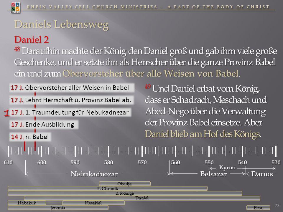RHEIN VALLEY CELL CHURCH MINISTRIES - A PART OF THE BODY OF CHRIST Daniel 2 48 Daraufhin machte der König den Daniel groß und gab ihm viele große Gesc