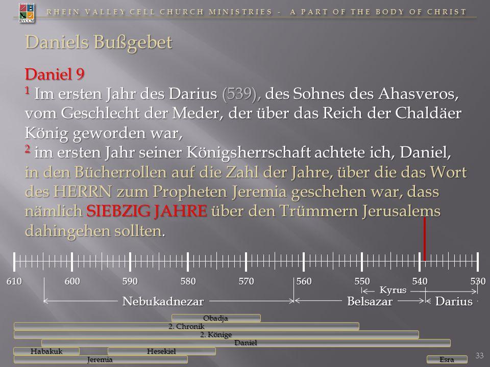 RHEIN VALLEY CELL CHURCH MINISTRIES - A PART OF THE BODY OF CHRIST Daniels Bußgebet Daniel 9 1 Im ersten Jahr des Darius (539), des Sohnes des Ahasver