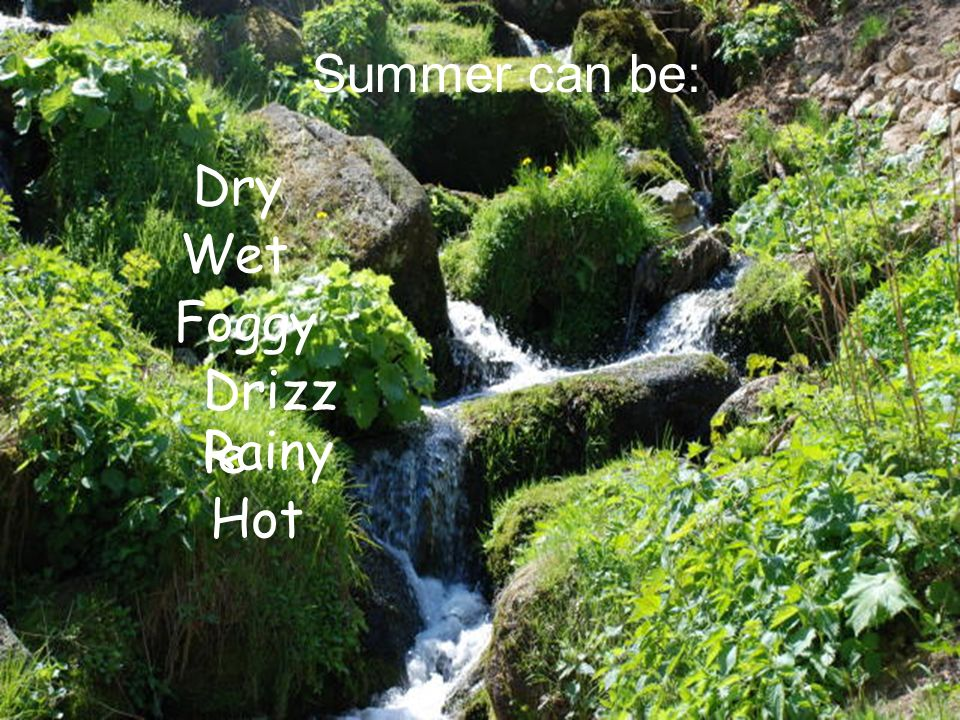 Summer is one of four temperate seasons.