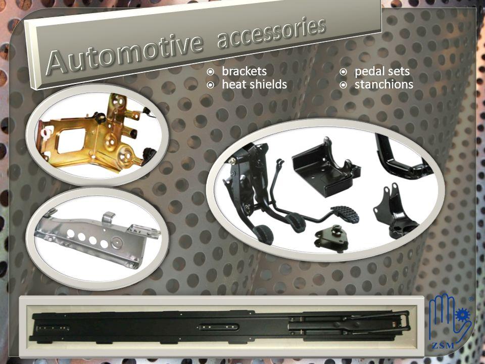 brackets heat shields pedal sets stanchions