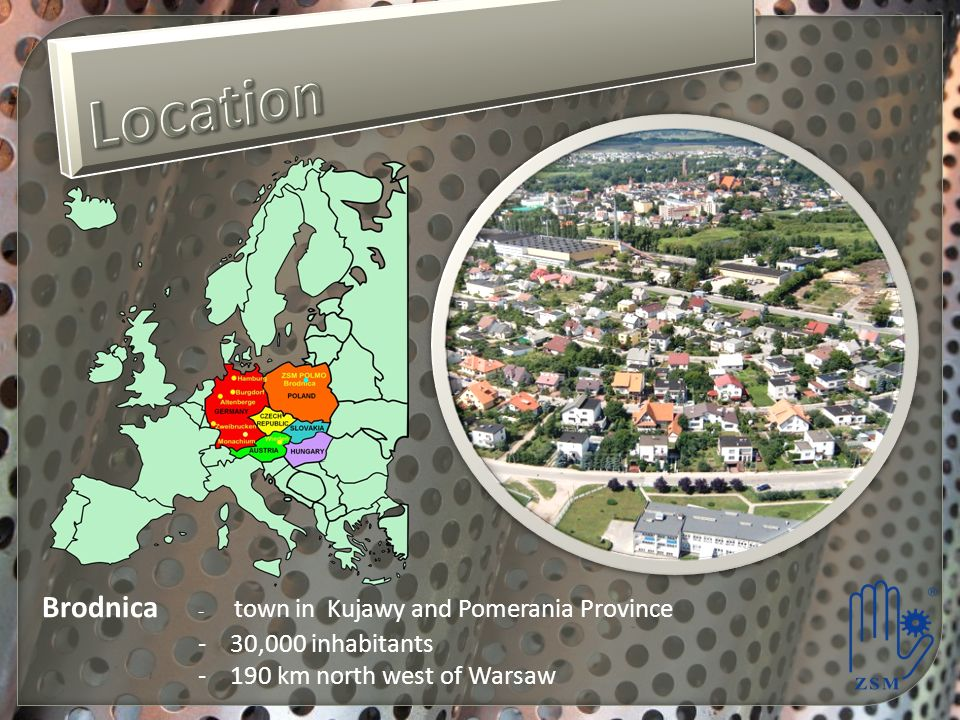 Brodnica - town in Kujawy and Pomerania Province - 30,000 inhabitants - 190 km north west of Warsaw