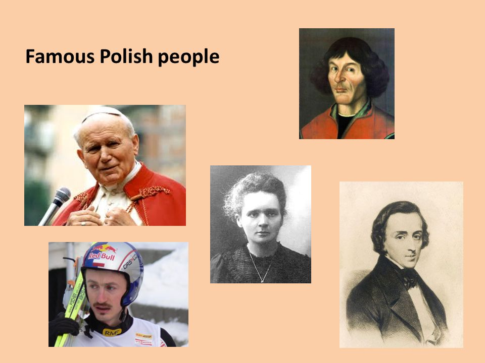 Famous Polish people