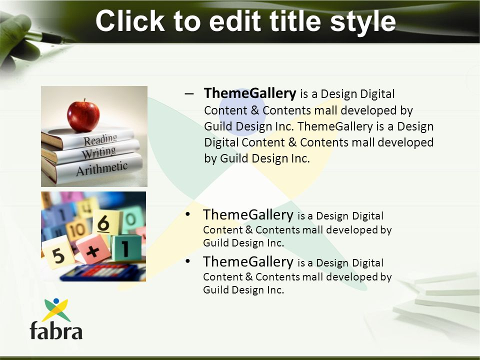 Click to edit title style – ThemeGallery is a Design Digital Content & Contents mall developed by Guild Design Inc. ThemeGallery is a Design Digital C