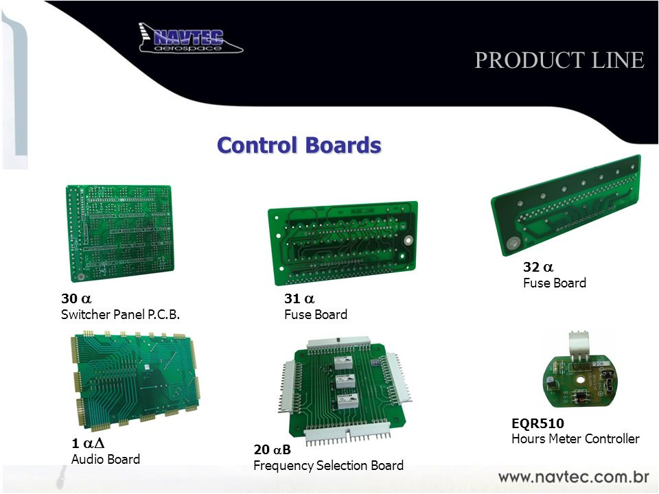 EQR 510 Controlador de Horímetro 20 B Frequency Selection Board 1 Audio Board 30 Switcher Panel P.C.B.