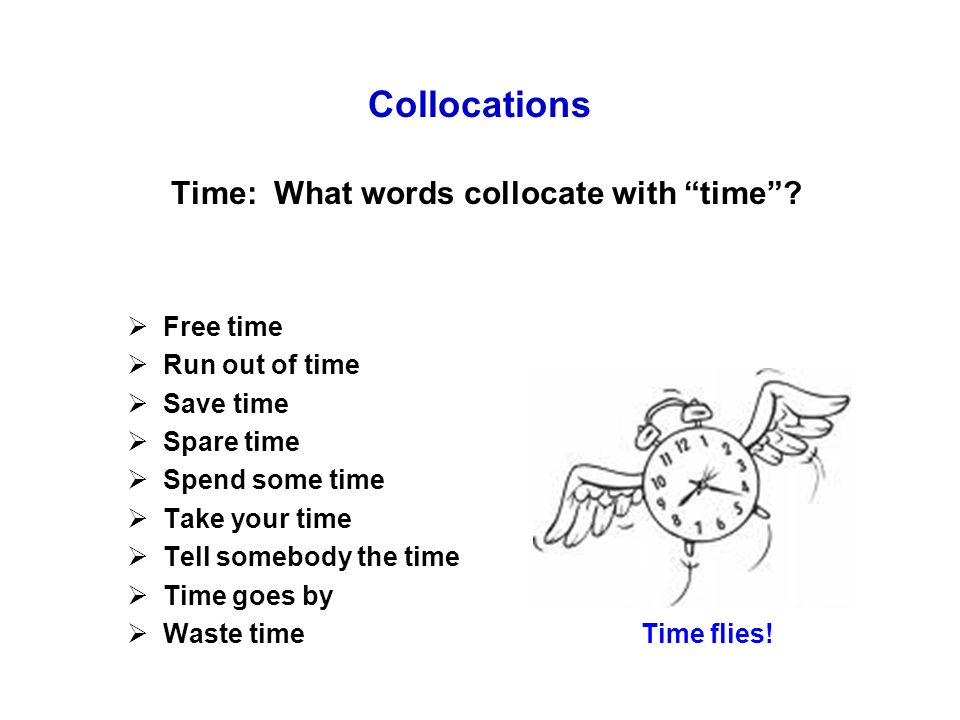 Collocations Time: What words collocate with time.