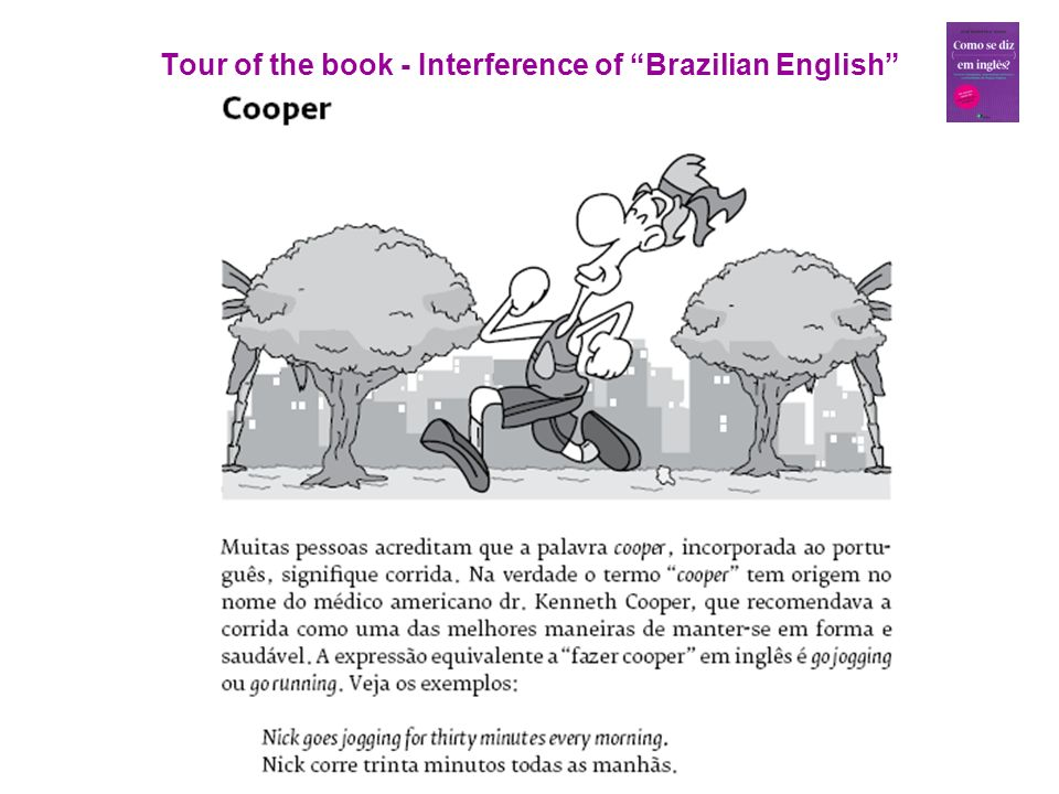 Tour of the book - Interference of Brazilian English