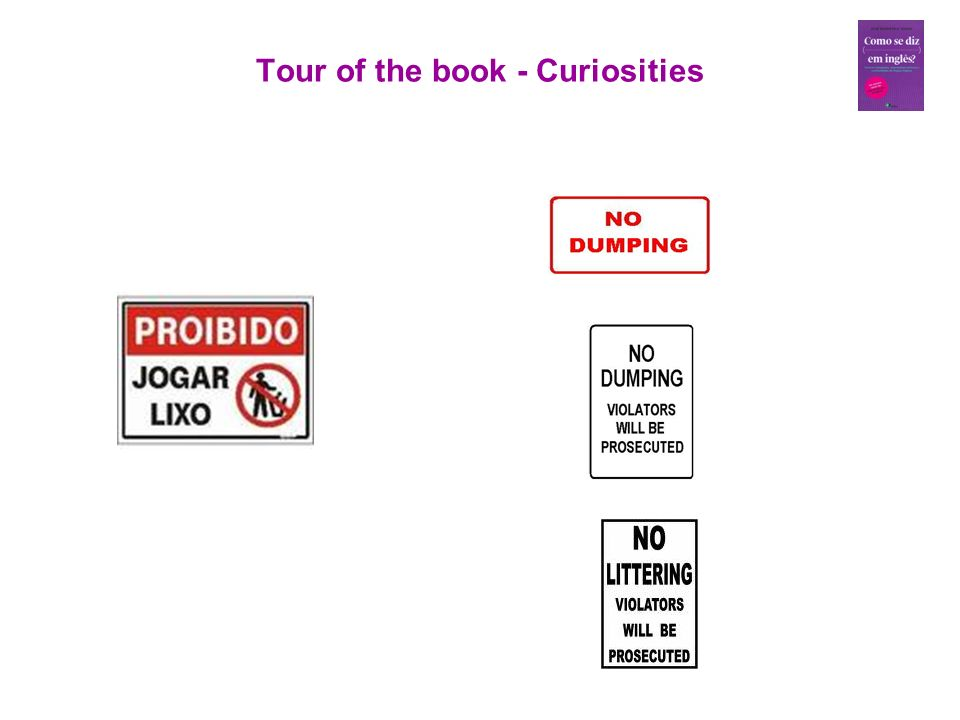 Tour of the book - Curiosities