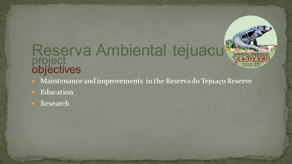 Europe project Reserva Ambiental tejuacu contacts