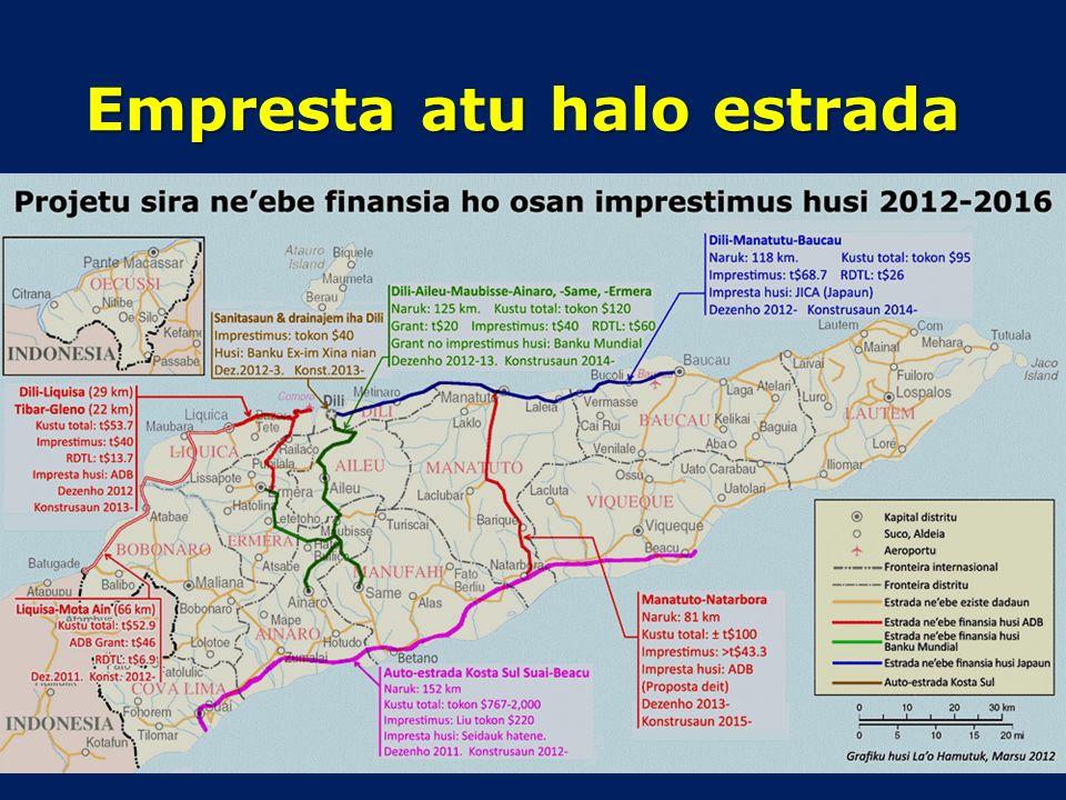 Deve Timor-Leste sai devedor Lei iha 2009 fó dalan Tinan 2012 Timor-Leste asina kontratu sira atu empresta tokon $107 hosi Japaun no ADB Iha 2013 TL a