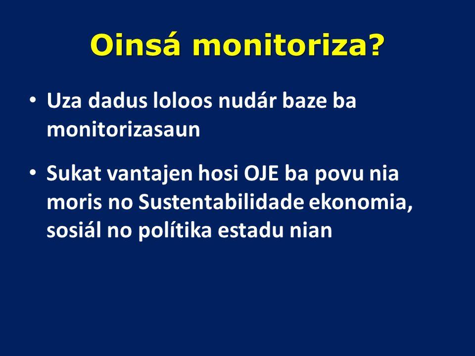 Saida mak Orsamentu Jerál Estadu (OJE) Kuantifikasaun ba planu dezenvolvimentu Governu. Planu finansial ba despeza no retornu, inklui poupansa, empres