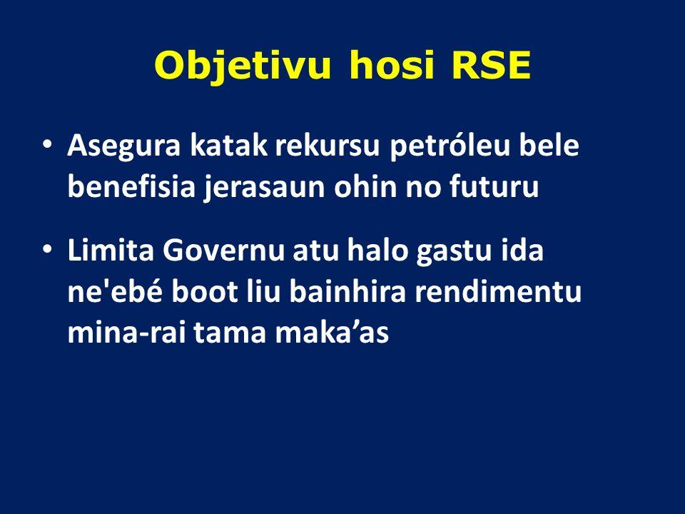 RSE = TOTAL RIKU-SOIN MINA-RAI (SALDU FP + NPV KA VALOR LÍKIDU PREZENTE BA FUTURU RESEITA) X 3/100