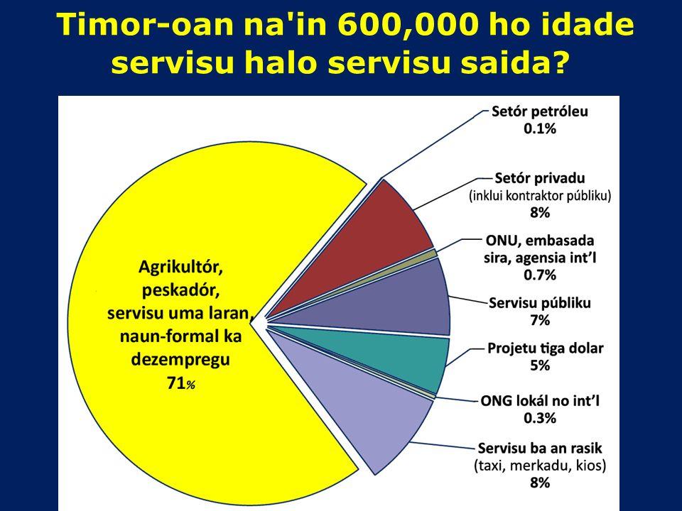 Timor-Leste enfrenta problema agora atu hetan empregu ba joven na'in 15,000 tama iha forsa laboral durante tinan 2014. Labarik barak sei sai joven Iha